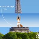 Session Yoga, vue sur Tour Eiffel pour rester ZEN malgré la compétition