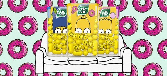 OUH PINAISE, Tic Tac lance une édition limitée… Simpson