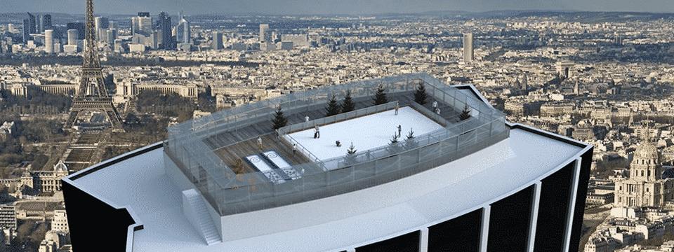 Une patinoire éphémère au 59e étage de la tour Montparnasse